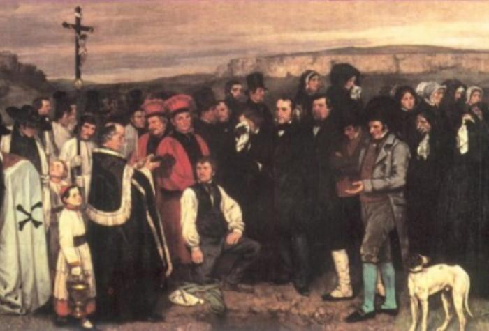 Гюстав Курбе. Похороны в Орнане, 1850. Фрагмент | Фото: allpainters.ru