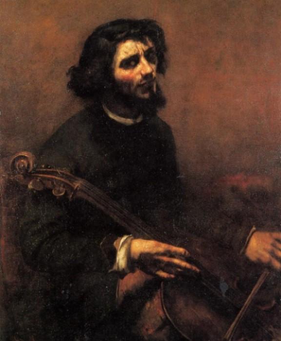 Гюстав Курбе. Виолончелист. Автопортрет, 1847 | Фото: allpainters.ru