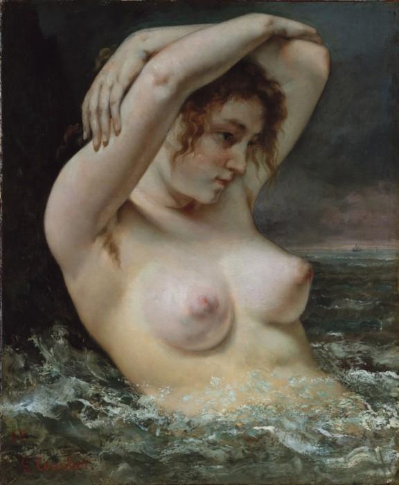Гюстав Курбе. Женщина в волнах, 1868 | Фото: gallerix.ru
