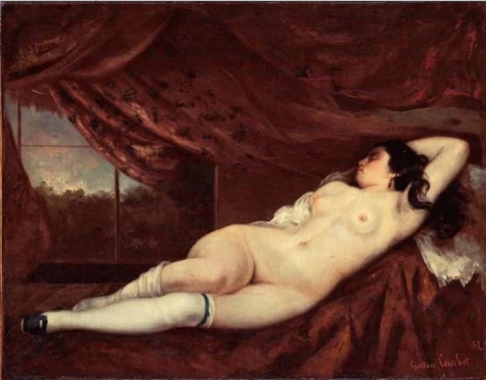 Гюстав Курбе. Спящая обнаженная, 1862 | Фото: allpainters.ru