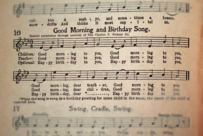 Песня *Happy Birthday to You!* исполняется на тот же мотив, что и *Good morning* | Фото: media.boingboing.net