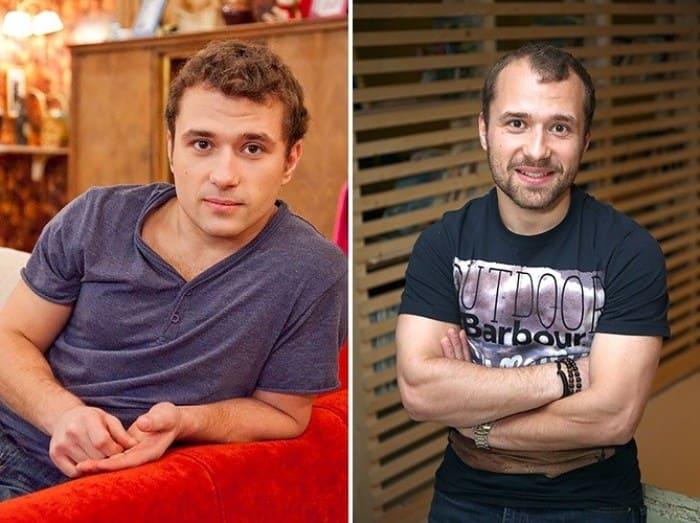 Александр Якин в сериале *Счастливы вместе* и в наши дни | Фото: gubdaily.ru
