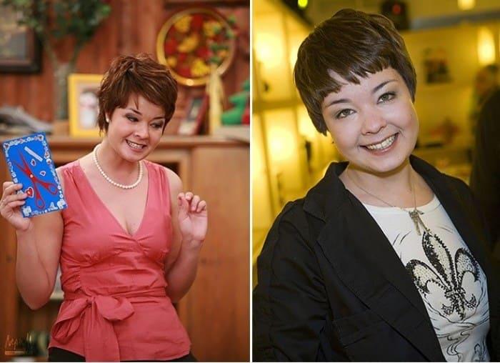 Юлия Захарова в сериале *Счастливы вместе* и в наши дни | Фото: gubdaily.ru