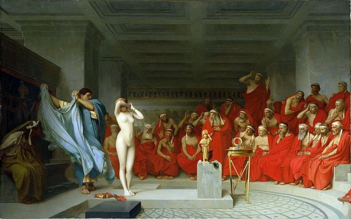 Жан-Леон Жером. Фрина перед Ареопагом, 1861