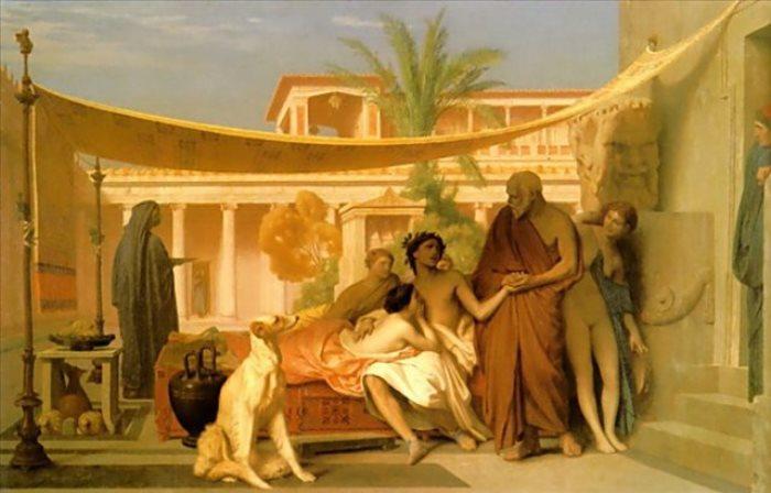 Жан-Леон Жером. Сократ, нашедший Алкивиада в доме Аспасии, 1861