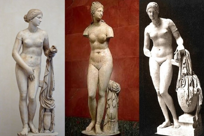 Статуи Афродиты Книдской (копии), запечатлевшие образ гетеры Фрины – музы скульптора Праксителя