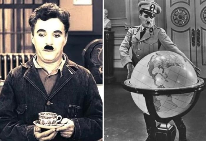 Многие обращали внимание на внешнее сÑодство героя Чарли Чаплина и Гитлера | Фото: kino-teatr.ru