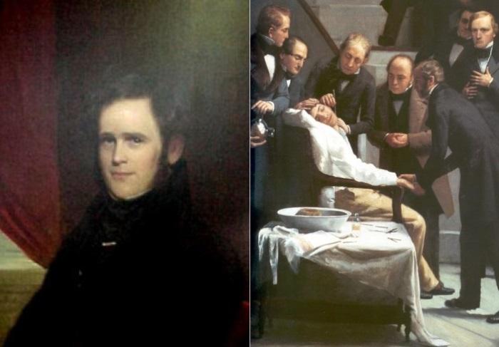 Хорас Уэллс был первым, кто применил веселящий газ в анестезии | Фото: tabula.ge и sinoemedicalassociation.org