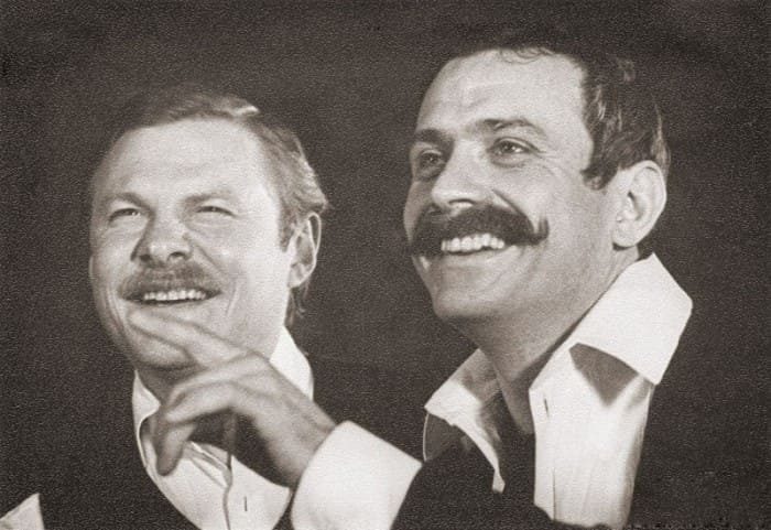 Никита Михалков и Виталий Соломин на съемках фильма | Фото: dubikvit.livejournal.com