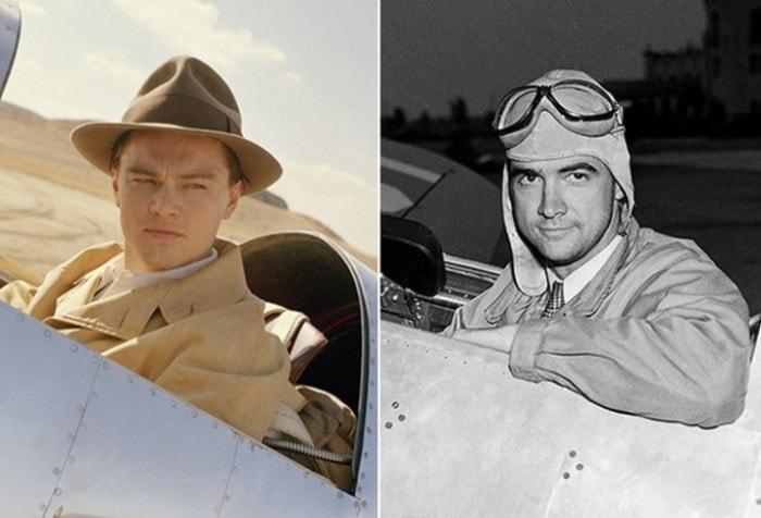 Говард Хьюз в исполнении Леонардо ди Каприо и в реальной жизни | Фото: nnm.me