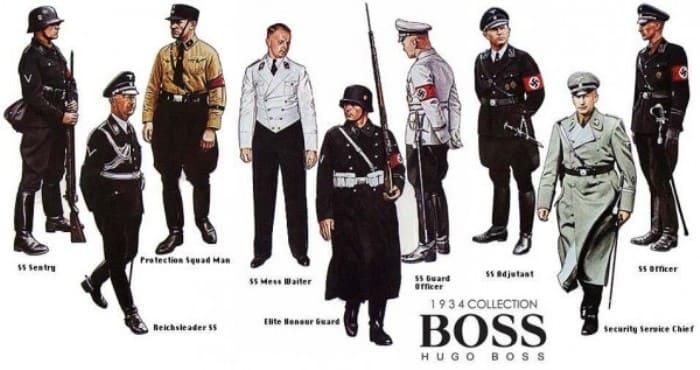 Нацистская форма, пошивом которой занималась компания *Hugo Boss*   Фото: bowandtie.ru