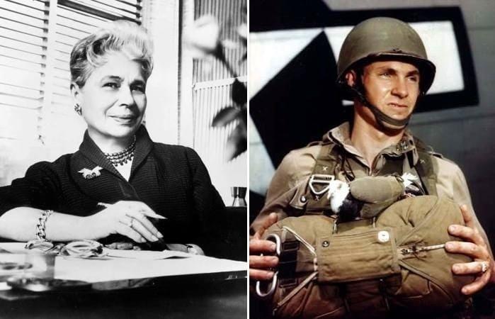 Революционерка в мире моды Ида Розенталь и солдат с ее изобретением | Фото: alliruk.livejournal.com и historybyzim.com