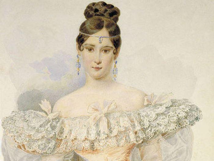 А. П. Брюллов. Портрет Н. Н. Пушкиной, 1831-1832. Фрагмент | Фото: liveinternet.ru