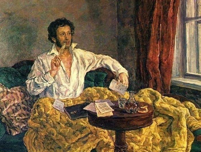 П. Кончаловский. Пушкин в Михайловском, 1940 | Фото: artchive.ru