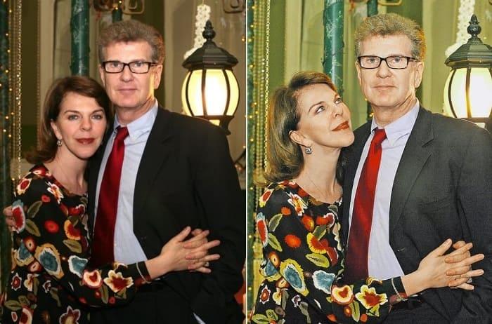 Актер со второй женой, Консуэло де Авиланд   Фото: kp.ru