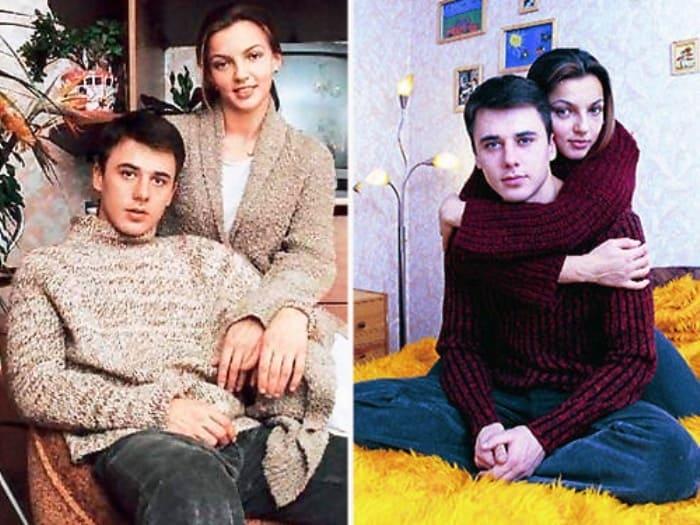 Актер с первой женой, Ириной Леоновой   Фото: starandstar.ru