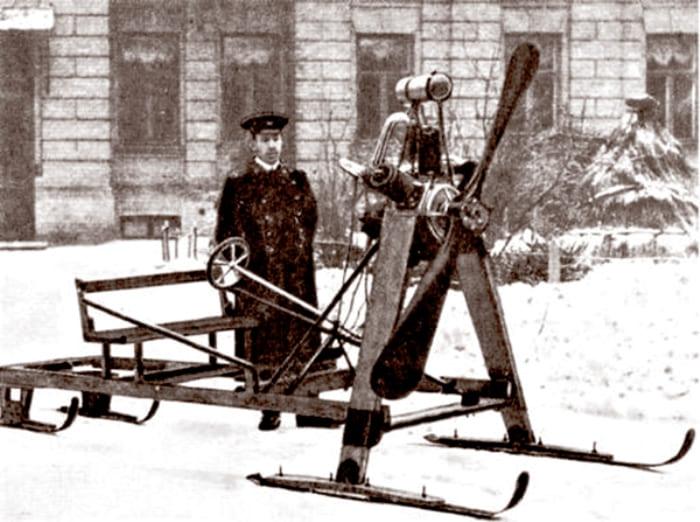 Аэросани, сконструированные Сикорским, 1910 | Фото: profi-forex.org