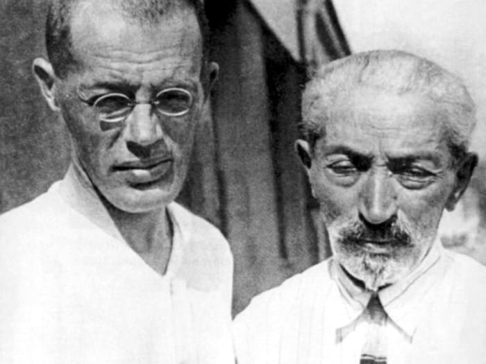 Писатель с отцом, 1929 | Фото: culture.ru