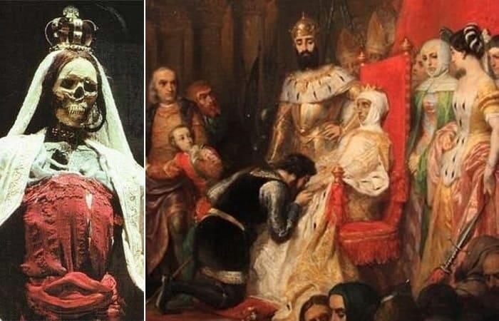 Пьер-Шарль Комт. Коронация Инес де Кастро в 1361 г., 1849 | Фото: ancient-origins.net