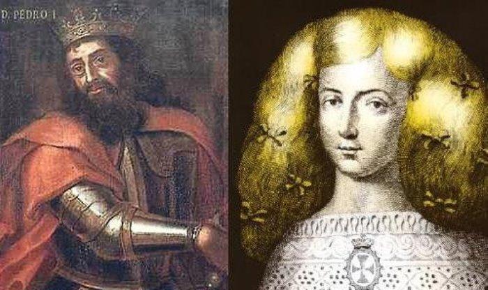 Король Португалии Педро I и Инеш де Каштру | Фото: ksn-travel.com