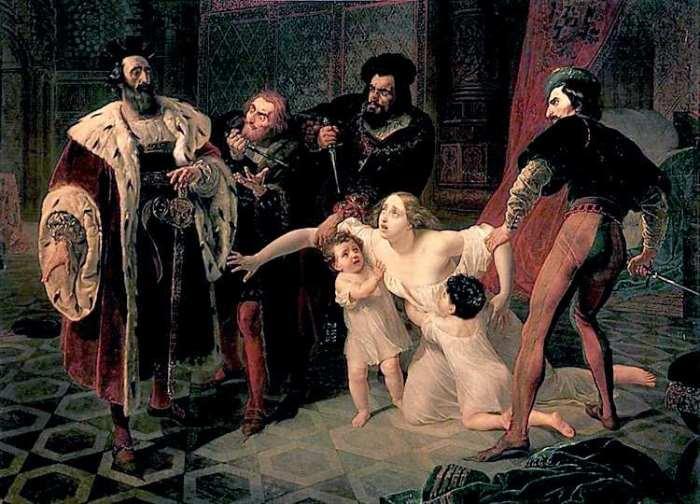 Карл Брюллов. Смерть Инессы де Кастро, 1834 | Фото: bsecrets.com.ua
