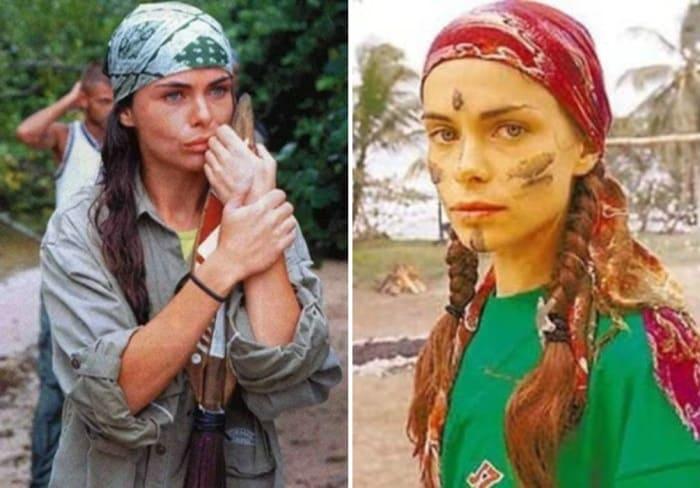 Инна Гомес в шоу *Последний герой*, 2001 | Фото: rus.jauns.lv, veasy.ru