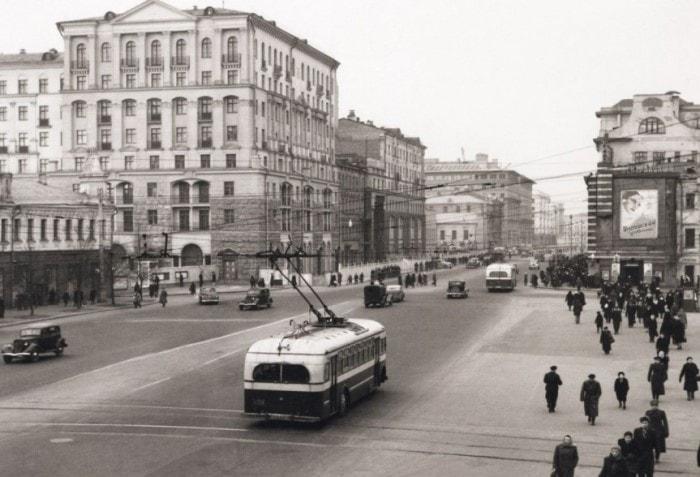 Москва, площадь Пушкина, 1947. Фото Н. Грановского | Фото: krasfun.ru