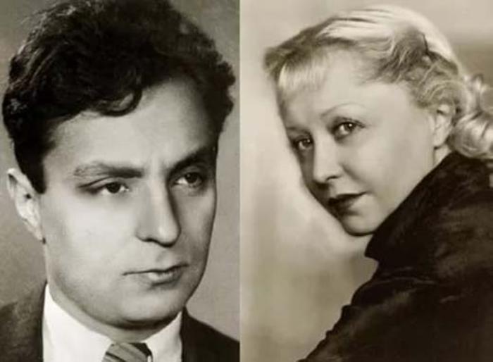Иосиф Хейфиц и Янина Жеймо | Фото: stuki-druki.com