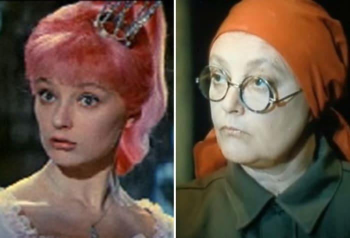 Ирина Губанова в 1966 и в 1990 гг.   Фото: kino-teatr.ru