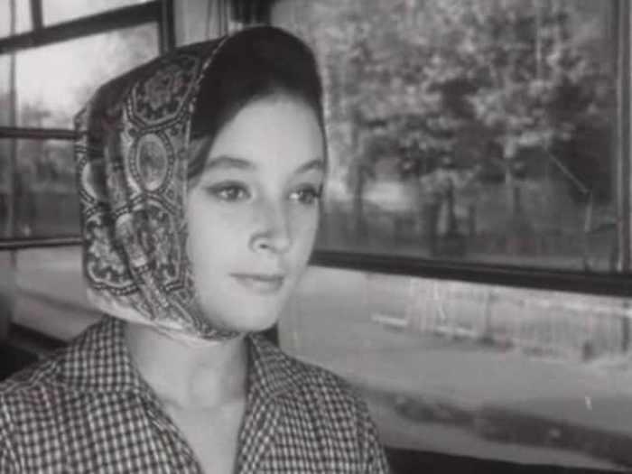 Ирина Губанова в фильме *Первый троллейбус*, 1963   Фото: biographe.ru