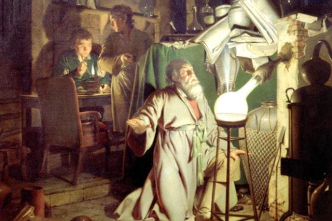 Д. Райт. Алхимик в поисках философского камня, 1771. Фрагмент | Фото: epochtimes.ru