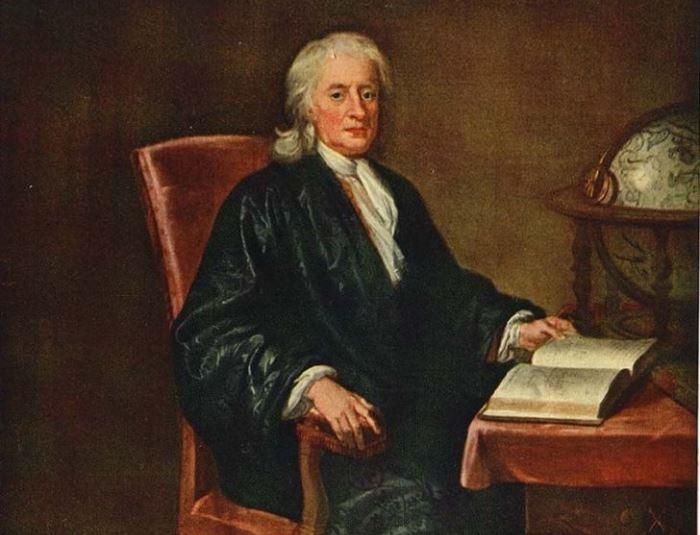 Е. Симен-младший. Портрет сэра Исаака Ньютона, ок. 1726 | Фото: eaculture.ru