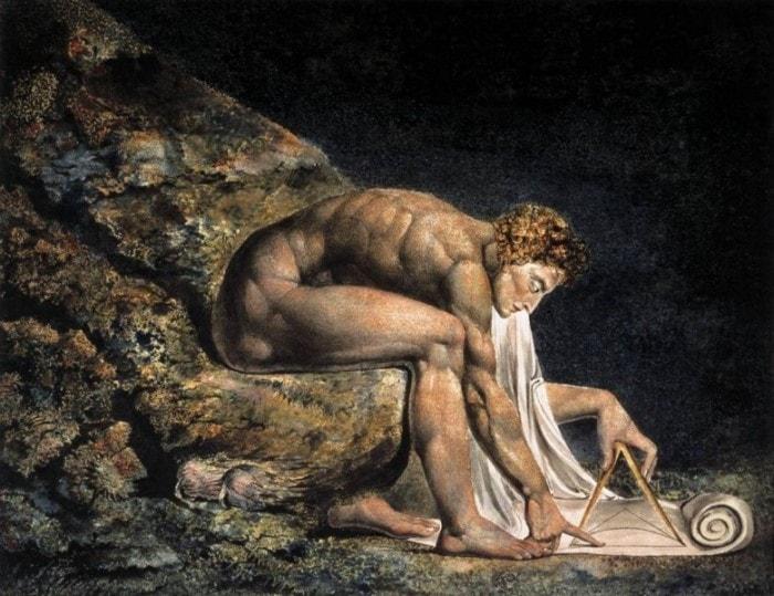 Уильям Блейк. Ньютон в образе античного божественного геометра, 1795 | Фото: old.mirf.ru