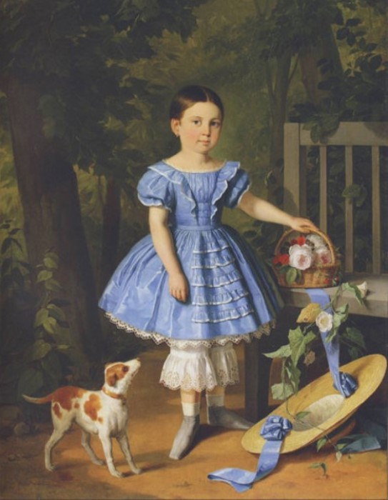И Хруцкий. Портрет девочки в голубом платье | Фото: art-assorty.ru