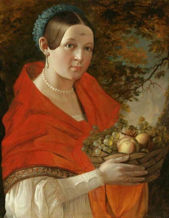 И. Хруцкий. Портрет неизвестной, 1830-е гг. | Фото: artinvestment.ru