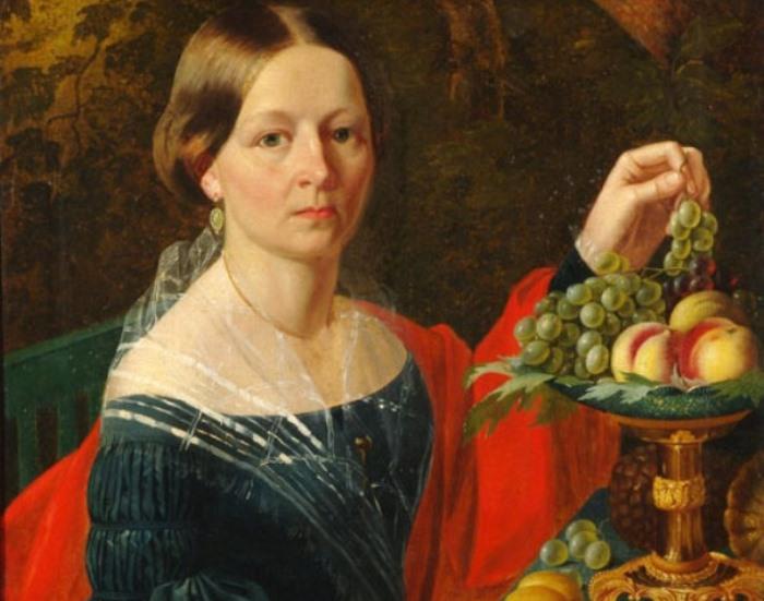 И Хруцкий. Портрет неизвестной, 1860-е гг. Фрагмент | Фото: liveinternet.ru