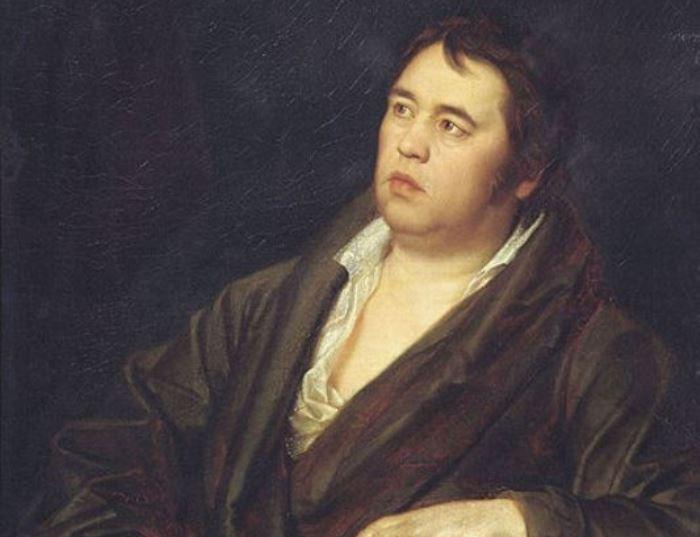 Р. Волков. Портрет И. А. Крылова, 1812. Фрагмент | Фото: art-catalog.ru