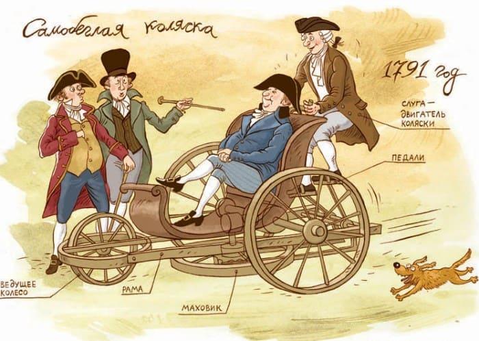 Модель *самобеглой коляски* Кулибина | Фото: labirint.ru