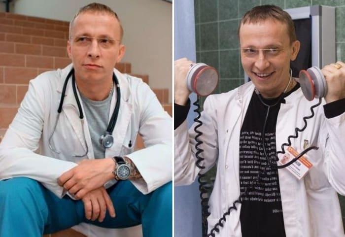 Иван Охлобыстин в сериале *Интерны*, 2010-2012 | Фото: kino-teatr.ru