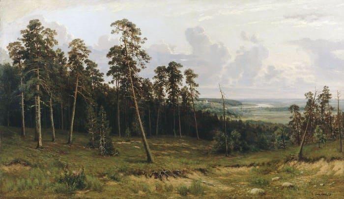 И. Шишкин. Богатый лог (Пихтовый лес на реке Каме), 1877 | Фото: artchive.ru