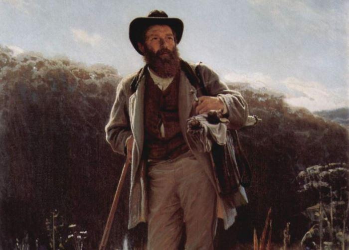 И. Крамской. Портрет художника И. И. Шишкина, 1873. Фрагмент | Фото: artchive.ru