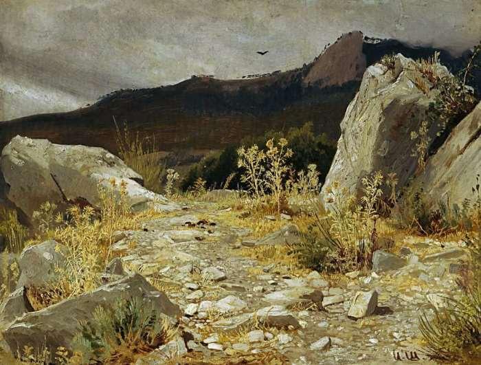 И. Шишкин. Горная дорожка в Крыму, 1879 | Фото: artchive.ru