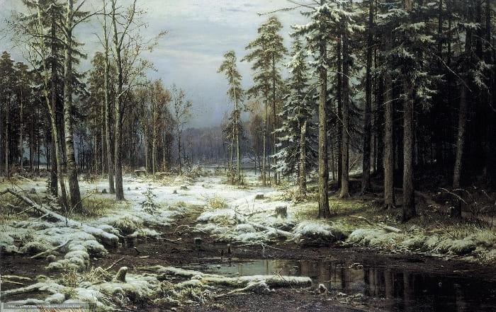 И. Шишкин. Первый снег, 1875 | Фото: iskusstvu.ru