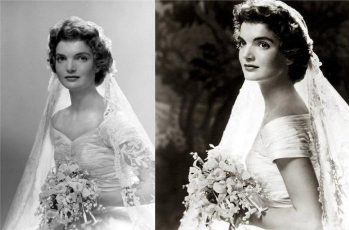 На свадьбе Жаклин выглядела по-королевски