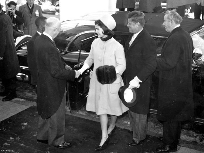Фотография с инаугурации президента США Джона Кеннеди 20 января 1961 года