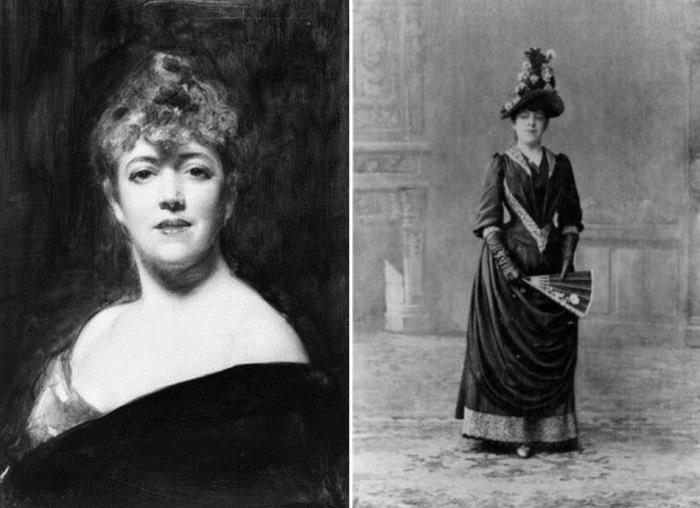 Слева – Шарль Эмиль Огюст Каролюс-Дюран. Жанна Самари, 1885. Справа – Жанна Самари. Фото, 1890