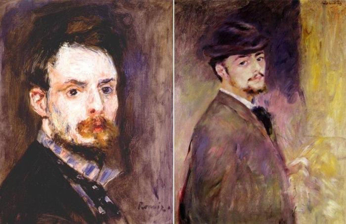 Огюст Ренуар. Автопортреты, 1875 и 1876