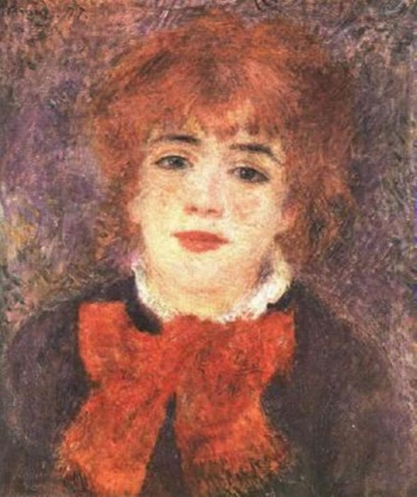 Огюст Ренуар. Портрет Жанны Самари, 1877
