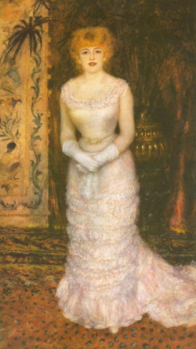 Огюст Ренуар. Портрет актрисы Жанны Самари, 1878