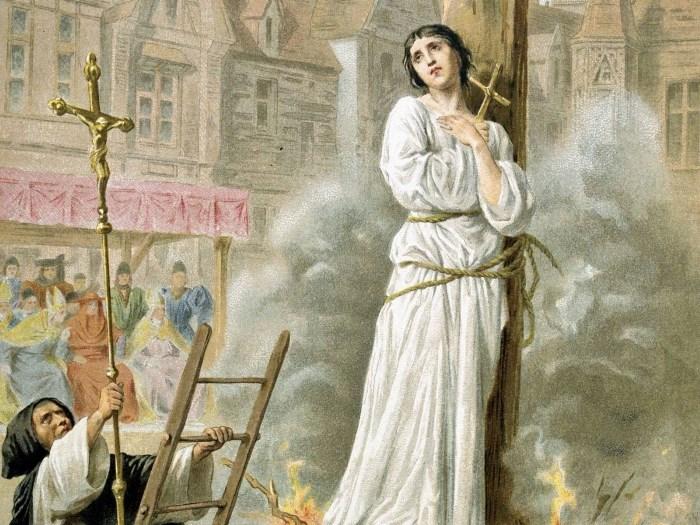 Сожжение Жанны д'Арк. Открытка XIX в. | Фото: liveinternet.ru